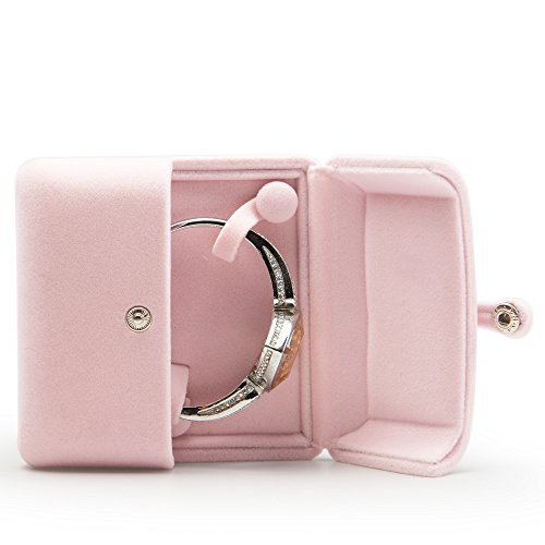 Oirlv Pink Velvet Jewelry Packaging Box Bracelet Display Storage Case Bracelet Gift Box
