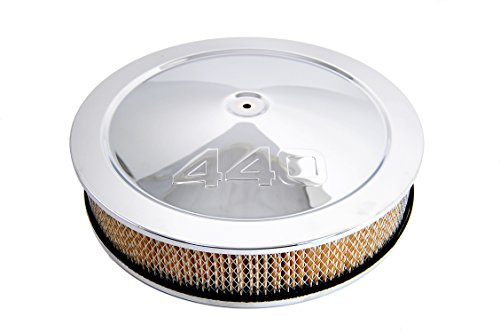 """Muscle Car Air Cleaner Set With """"440"""" Logo Stamped (Chrome)"""