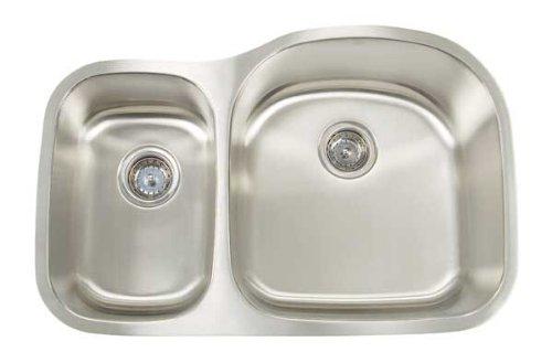 Artisan AR 3220 D97R-D 16-Gauge Undermount Double Basin Big Bowl and Small Bowl Sink Premium Series (Double Premium Bowl Series)
