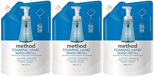 Method Foaming Hand Wash Refill Pouch, Sea Minerals, 28oz, 3pk