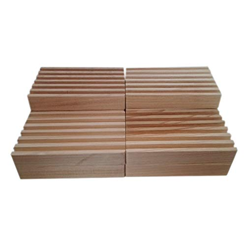 (Bulk Cypress Wooden Soap Dishes AS SEEN ON TV Set of 10. Unfinished. Made in The USA. Water and Rot Resistant. Helps Bars Last Much Longer. Give as a Gift or Sell with Your Handmade soap.)