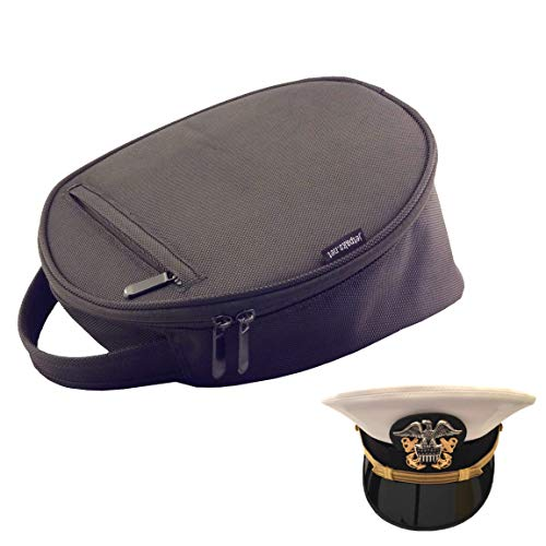 JetPaks.net HatPak Pilot Uniform Hat and Cap Travel Carrying Case - Small - Black
