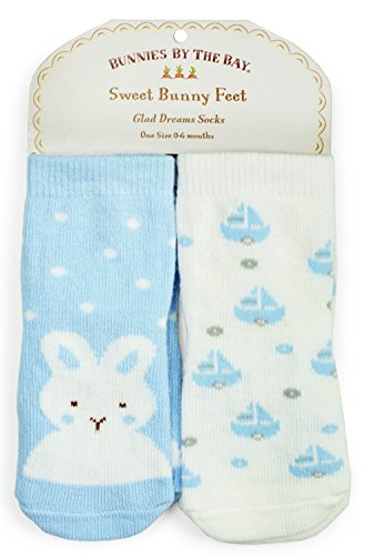 Bunnies by the Bay Best Friends Socks - 2 Pair - 0-6 Mo