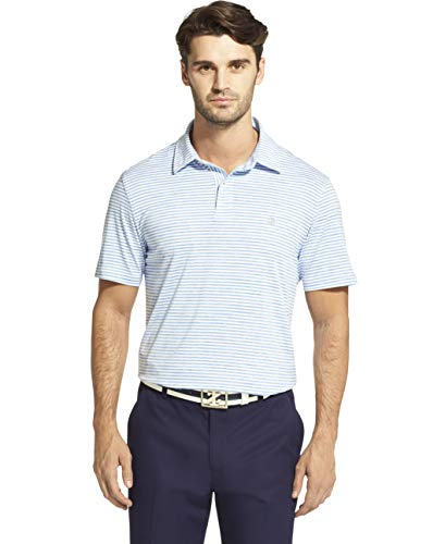 - IZOD Men's Performance Golf Greenie Short Sleeve Stripe Polo Shirt, Bright Cobalt, XX-Large
