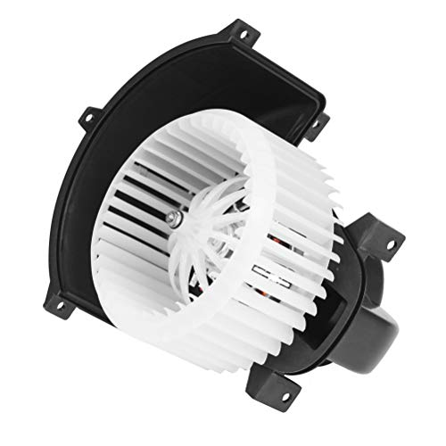 AC Heater Blower Motor Fan White with Cage - Fits Volkswagen Touareg 2004, 2005, 2006, 2007, 2008, 2009, 2010, Audi Q7 07-15 - Replaces 7L0 820 021 Q, TYC 700262, 7L0-820-021-Q, 4L1-820-021-B, 76994 Ac Fan Blower Motor