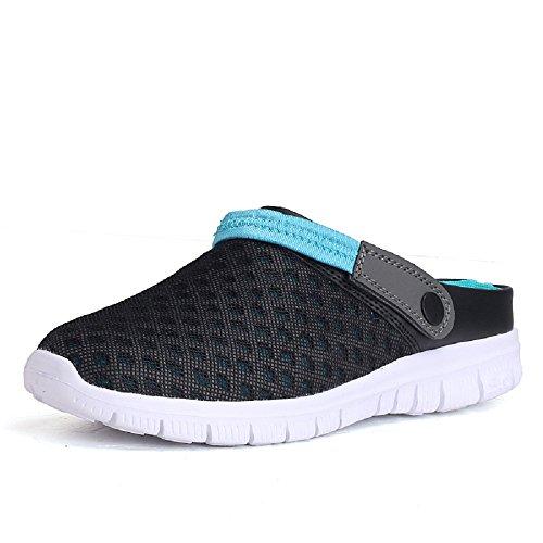 Peggie House Cómodo Casual sandalias de caminata al aire libre Negro Azul