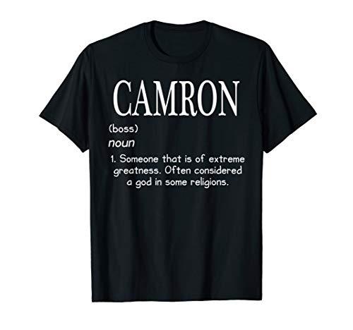 I'm Camron Doing Camron Things Funny Birthday Name Idea T-Shirt