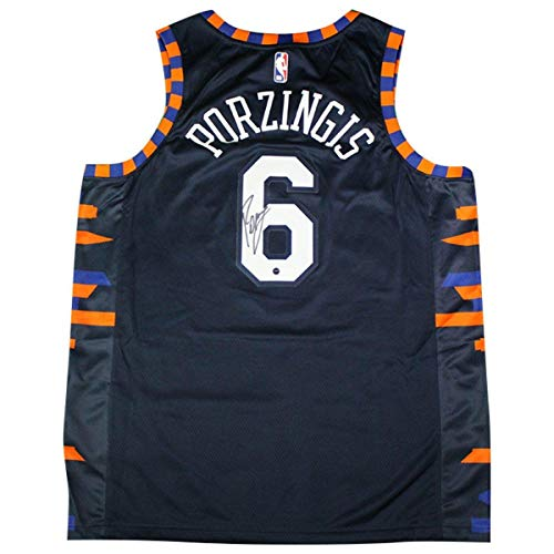 - Kristaps Porzingis Signed New York Knicks Nike Navy 2018/19 Swingman City Edition Jersey - Steiner Sports Certified