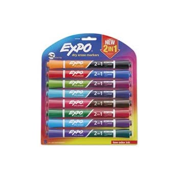 Amazon.com : EXPO 2-in-1 Double-Sided Dry Erase Markers