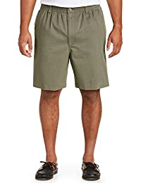 by DXL Big and Tall Elastic-Waist Twill Shorts-Updated Fit