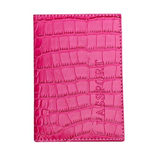 Kanpola Pasaporte Tarjeta De Rosa Titular La Protector Color De Visita Cartera Pasaporte Negro Cuero De Del Cubierta Caliente De Suave rwqrRf