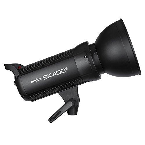 Godox SK400II Studio Strobe 400W, 2.4G Wireless X system GN65 5600K Monolight with Bowens Mount 150W Modeling Lamp, Outstanding Output Stability, Anti-Preflash