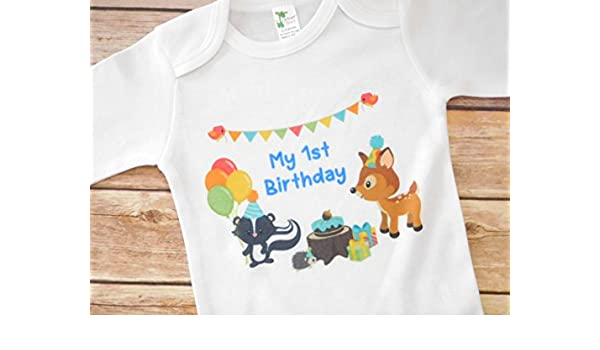 3b8fde792 Amazon.com: First Birthday Outfit - 12 to 18 Months - Woodland Themed  Birthday Party: Handmade