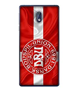 ColorKing Football Denmark 05 Red shell case cover for Nokia 3