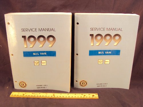 1999 99 CHEVROLET Astro Mini Van GMC Safari Mini Van Shop Service Repair Manual Book 2 Volume Set