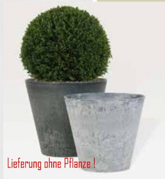 Blumenübertopf Artstone Clair Pot aus Kunststoff, sonnen-und regenbeständig für Innen und Außen, Farbe Grau Ø 47cm Höhe 47cm