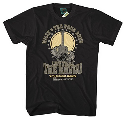 Bathroom Wall Creedence Clearwater Revival Inspired Willy & The Poor Boys, Men's T-Shirt, Large, Black