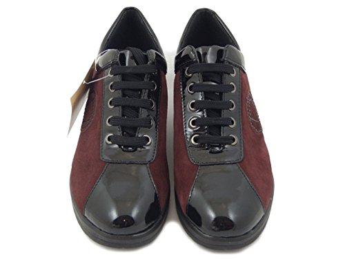 Divan Lucida Bordeaux Nero Becquer Osvaldo In E i17 Sneaker Pericoli Camoscio Pelle 4xCq65