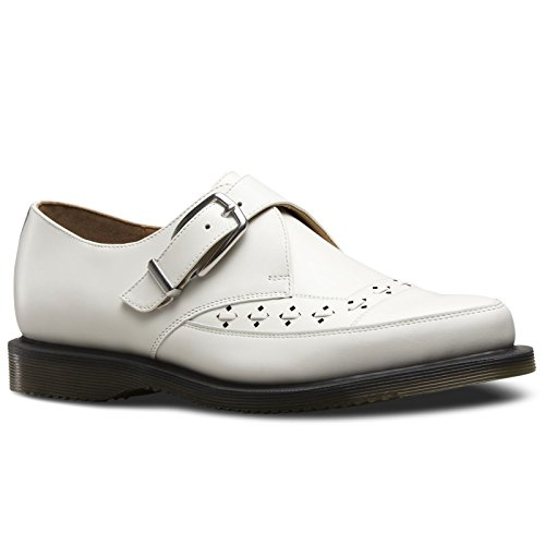 Buckle Creepers (Dr. Martens Men's Rousden Oxford, White, 9 UK/10 M US)