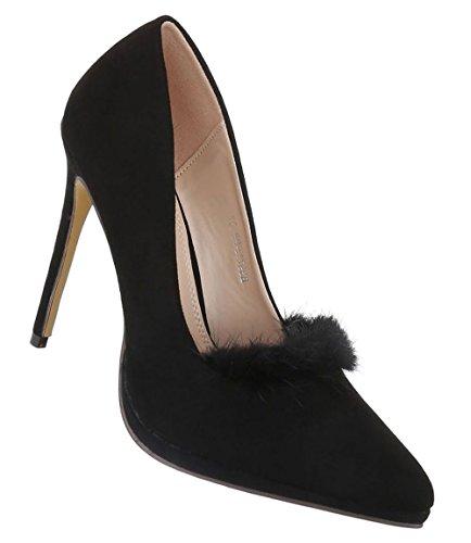 Womans Klassische Pumps Business Stiletto Spitze Schuhe Frau Elegante Schwarze Abendschuhe