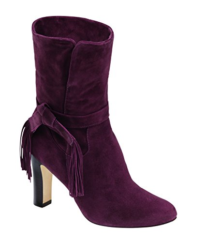 Johnston & Murphy Dames Keaton Manchet Bootie Bordeaux Kid Suede Bordeaux Kid Suede
