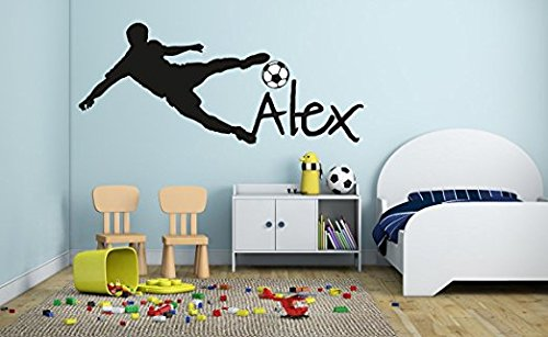 Cheap  Personalized Name - Soccer Player Boy Girl Mural - Baby's Mural Room..