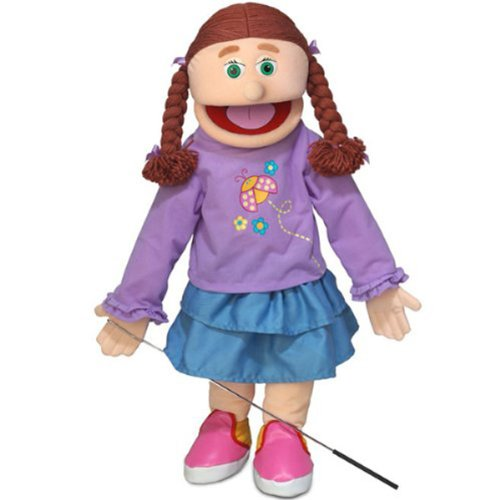 Amy, Peach Girl, Full Body, Ventriloquist Style Puppet, 65cm Silly Puppets SP2801
