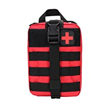 Prettyui Rip-Away Tactical EMT Pouch MOLLE Individual First Aid Kit Utility Emergency Bag