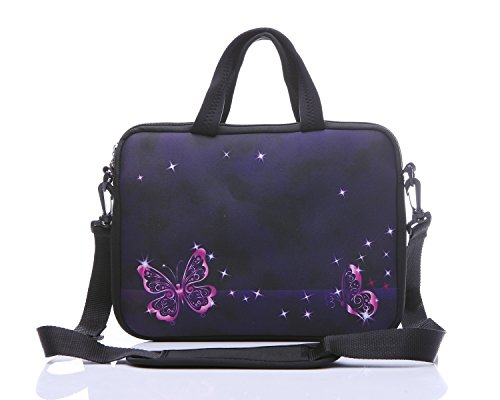 Neoprene shoulder Ultrabook Chromebook butterfly