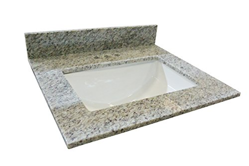 (Design House 563338 Granite Single Bowl Vanity Top 31x22, Kashmir White)