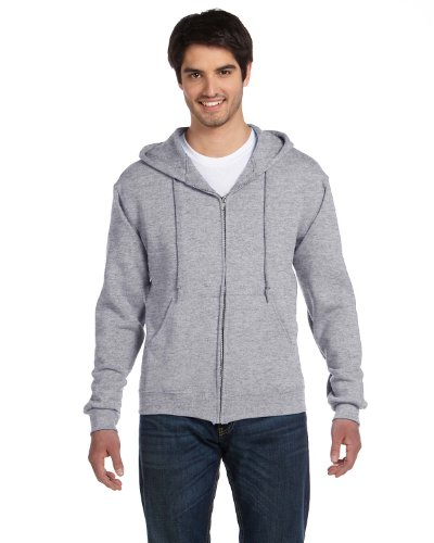 Fruit Of The Loom Men's Heavyweight Full-Zip HoodIe, Athletic Heather, Large (Fruit Of The Loom Ribbed Sweatshirt)