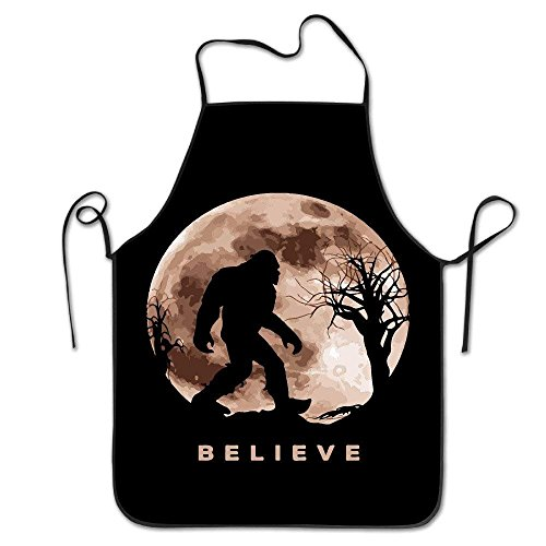 gaeberp Funny Bigfoot Sasquatch Full Moon.PNG Unisex Cooking Kitchen Aprons Chef Apron Bib]()