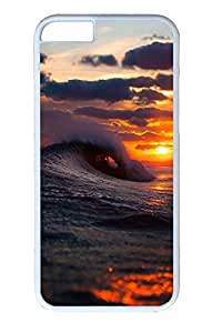 iphone 6 4.7inch Case Cool Surf Wave Sunset PC Hard Plastic Case for iphone 6 4.7inch Whtie
