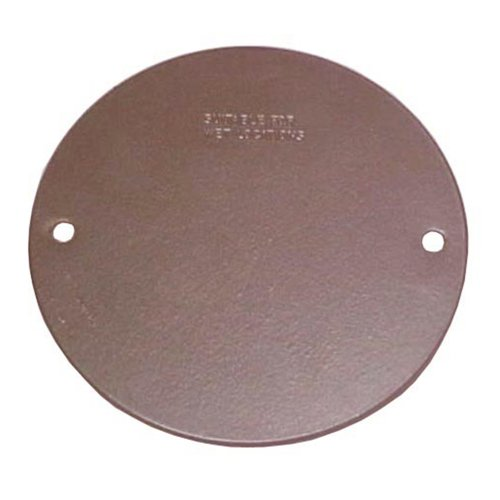 Sigma Electric 14241BR Round Blank Stamped Cover,  (Round Plug Cover)