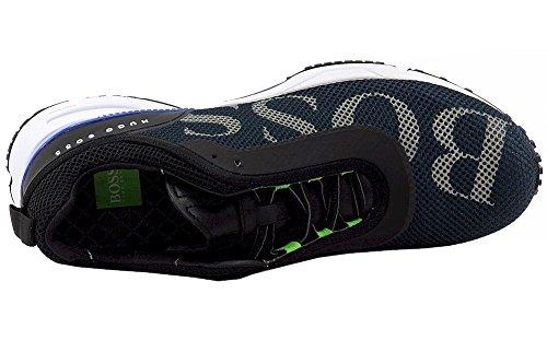 Hugo Boss Herren Velox Fashion Dunkelblaue Mesh Sneakers Schuhe