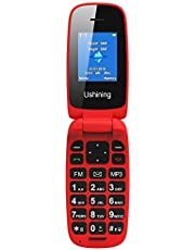 "Cellulare a Conchiglia Semplice Telefono Flip GSM Dual SIM 1.8"" Tasto Facile Feature Phone"