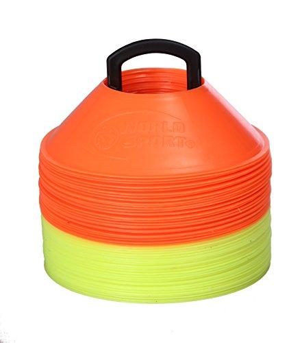 Kwik Field Hockey Goal (World Sport MINI Disc Cones 25 Orange / 25 Neon Yellow (50 Pack))