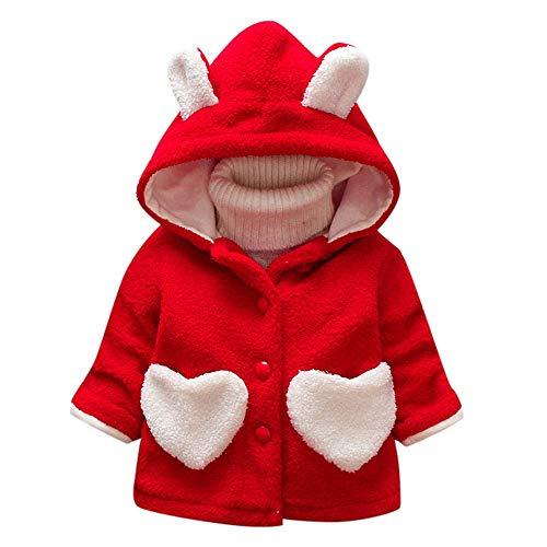 HYIRI Factory Sale Halloween Autumn Winter Girls Baby Kids Outerwear Ear Heart Warm Thick Hooded Coat -