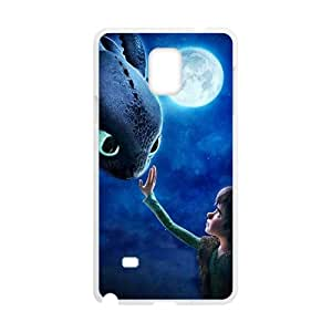 Moon night fish and boy Cell Phone Case for Samsung Galaxy Note4