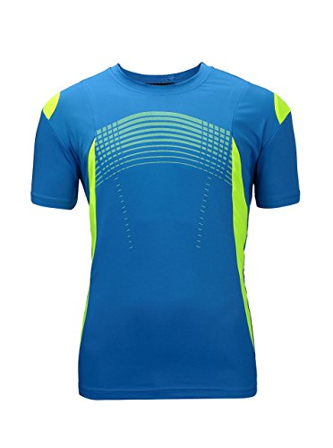 (ZITY Mens Premium Fitted Short-Sleeve Crew T-Shirt Blue Medium)