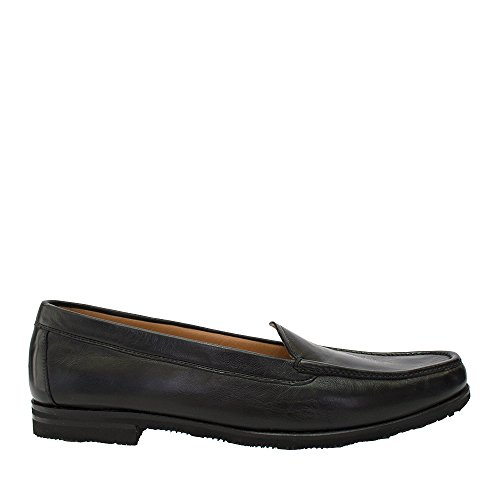 Gravati Black Leather Slip On Loafer With Waffle Sole Size 6.5 3lvz8