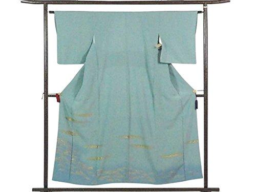 ブリーフケース展開するシャーロットブロンテリサイクル色留袖 / 正絹薄ブルー地袷色留袖 / レディース【裄Mサイズ】(色留 訪問着 中古色留袖 中古訪問着 リサイクル着物)【ランクA】