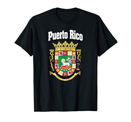Escudo Puerto Rico Flag Coat Of Arms Boricua Tee T-Shirt
