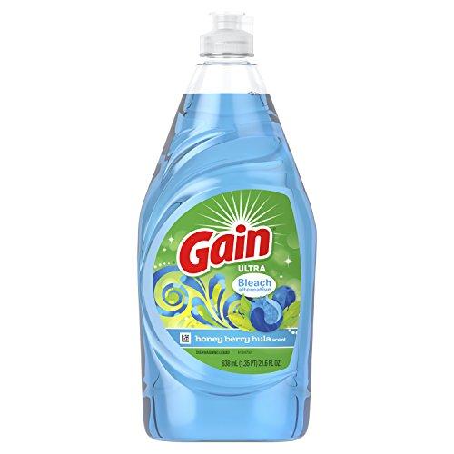 - Gain Ultra Bleach Alternative Dishwashing Liquid Dish Soap, Honeyberry Hula, 21.6 fl oz