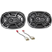 Kicker 6x9 Rear Factory Speaker Replacement Kit For 2002-2006 Toyota Camry