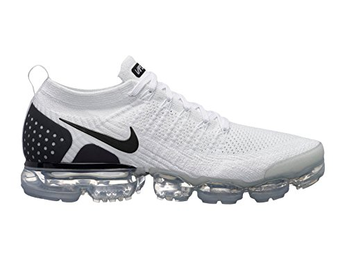 premium selection 67b51 8eedb Nike Men s AIR Vapormax Flyknit 2, White Black-Black, 12 M US
