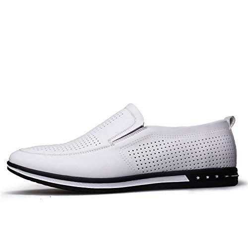 Business Dimensione 2018 Casual cavo opzionale New Scarpe Uomo 39 da uomo Color Bianco Pelle Scarpe formali Hollow Jiuyue Bianco EU Casual Summer confortevoli shoes convenzionale Cavo Oxford 5BqAw6E