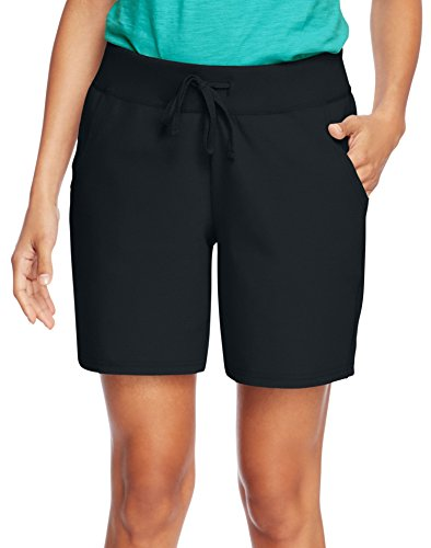 Hanes+Women%27s+Jersey+Short%2C+Black%2C+X-Large