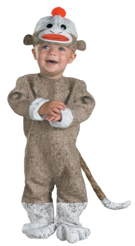 Sock Monkey Costume: Toddler's Size 12-18 Months