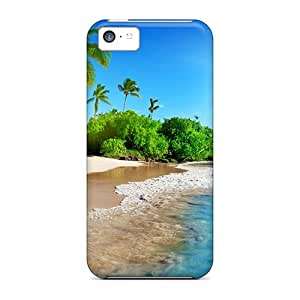 Tpu Shockproof/dirt-proof Tropical Paradise Sunshine Cover Case For Iphone(5c)